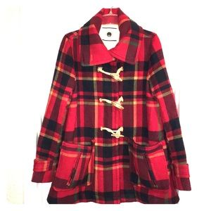 Anthro daughters of liberation red plaid coat 10